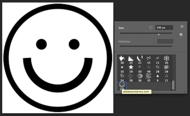smiley-custom-brush