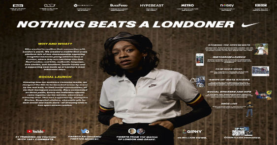 BREAKING NEWS: 'Nothing Beats A Londoner' by Wieden + Kennedy London for Nike bags Social & Influencer Lions Grand Prix