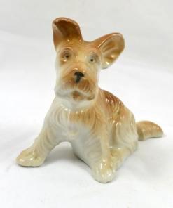 Vintage Porcelain Terrier Pup- Dog's Tale Collectibles