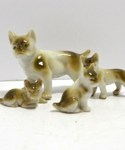 Frenchie Family Front View- Dog's Tale Collectibles