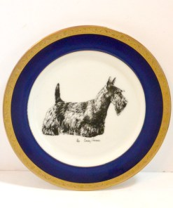 Porcelain Plate Front - Dog's Tale Collectibles