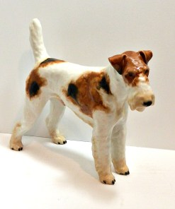 Haired Fox Terrier Side 1- Dog's Tale Collectibles