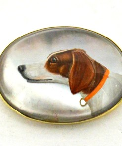 Essex Crystal Hunting Dog Front- Dog's Tale Collectibles