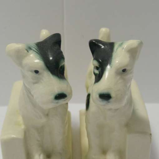 fox terrier bookends
