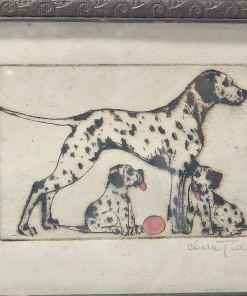 Dalmatian Dogs Pen & Ink Drawing