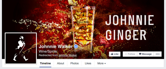 Johnnie Walker Seamlessly Combining Their Cover Photo And Profile Picture  Images | #Facebook #design