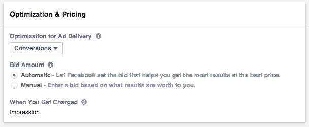 Changes to Facebook bidding and optimization