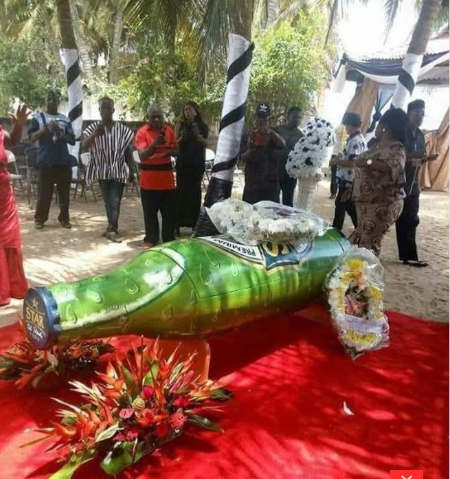 Beer-bottle-shaped coffin used to bury man causes social media confusion
