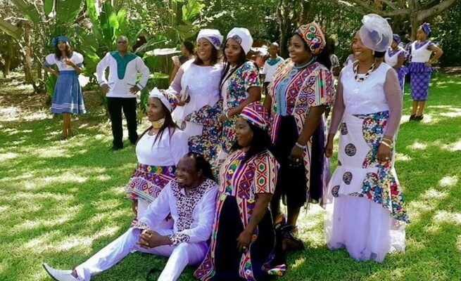 A 50-year-old South African man, Gobela Faniyakhe from Umhlabuyalingana, northern KwaZulu-Natal, a coastal South African province, marries six (6) women the same day in same ceremony. This dropped the jaws of many people.