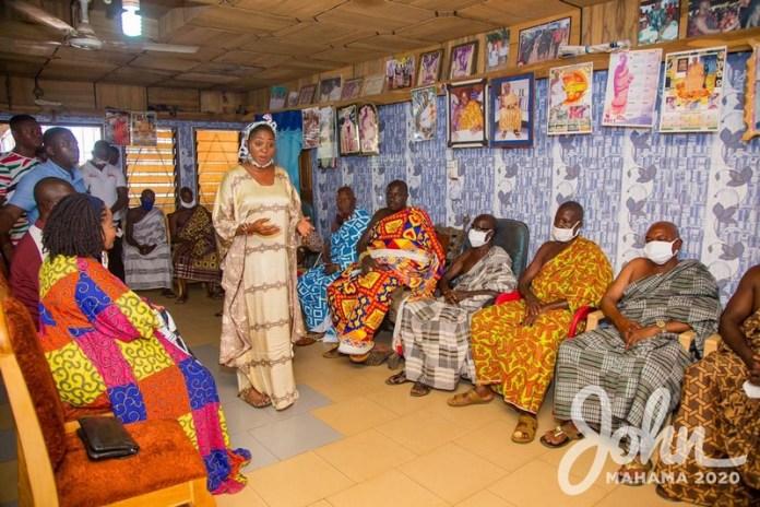 Lordina Mahama campaigns in Bono East Region