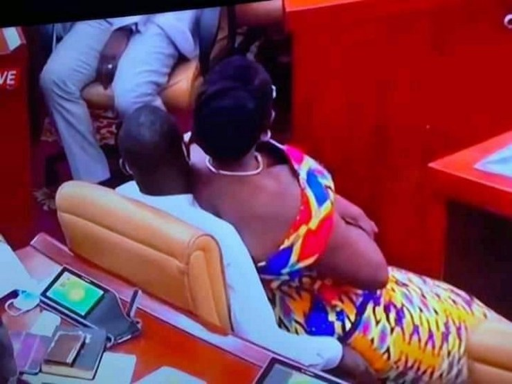 Ursula Owusu sits on Akandoh