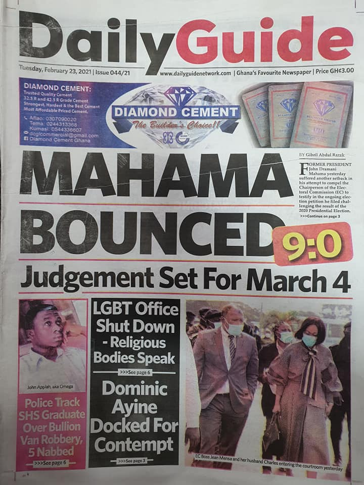 Newspaper Headlines: Tuesday, February 23, 2021 4