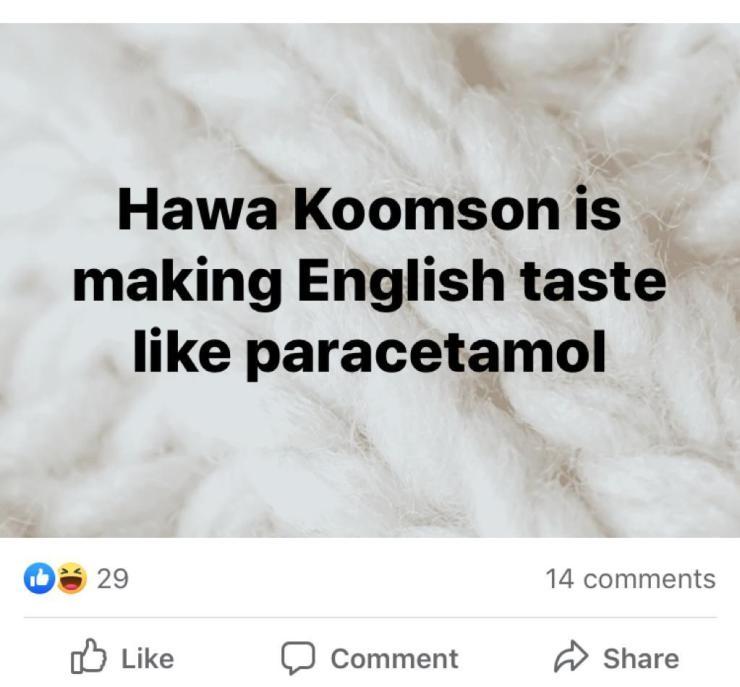 Social media on 'fire' over Hawa Koomson 9