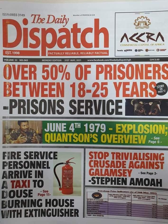 Newspaper Headlines: Monday, May 31, 2021 18