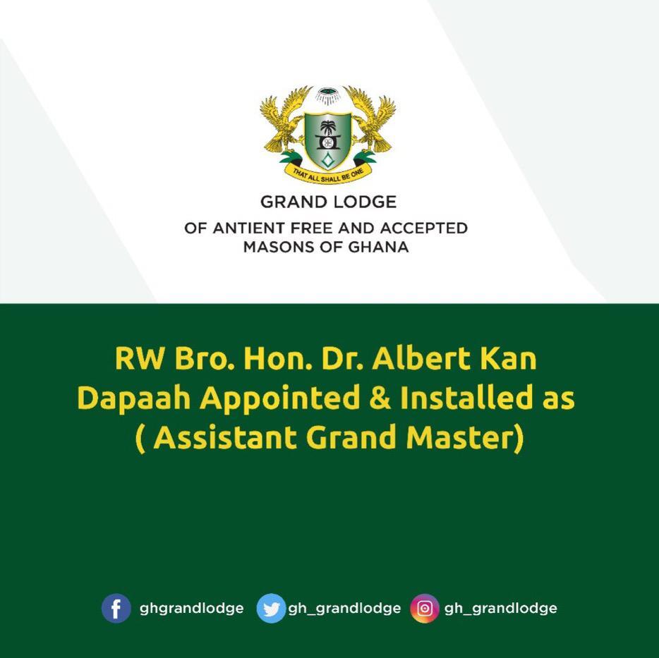 Kan Dapaah installed Assistant Grand Master of Freemasons in Ghana 2