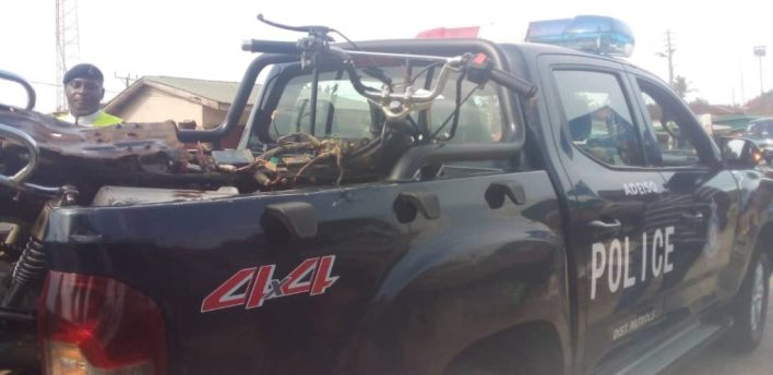 Okada rider in critical condition after colliding with taxi 3
