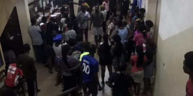 Young man rushed to hospital after falling from 3rd floor in University of Ghana