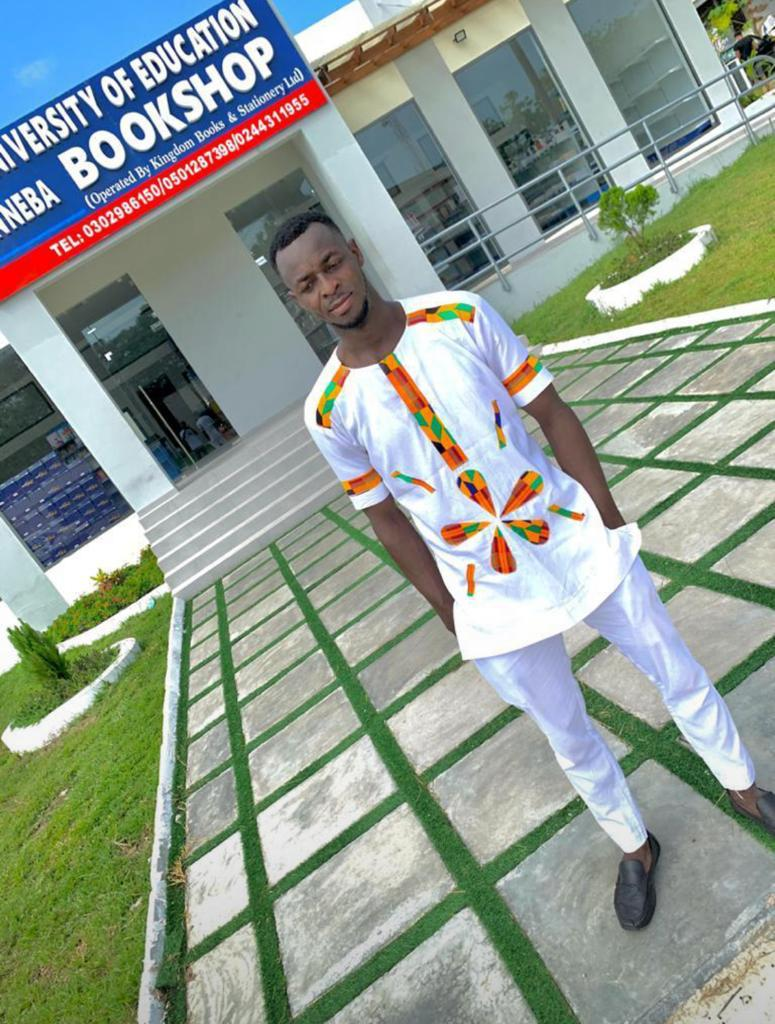 A level 400 UEW student fell heavily on his neck whiles celebrating his completion.