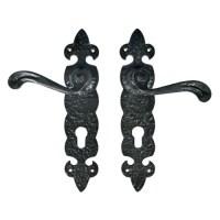 Quality Black Ironmongery Handle with Back Plate   Black ...