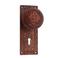 "Quality ""Abdeel"" Silicon Bronze Door Knob with Plate ..."