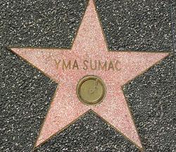 Resultado de imagen para yma sumac estrella en el paseo de la fama