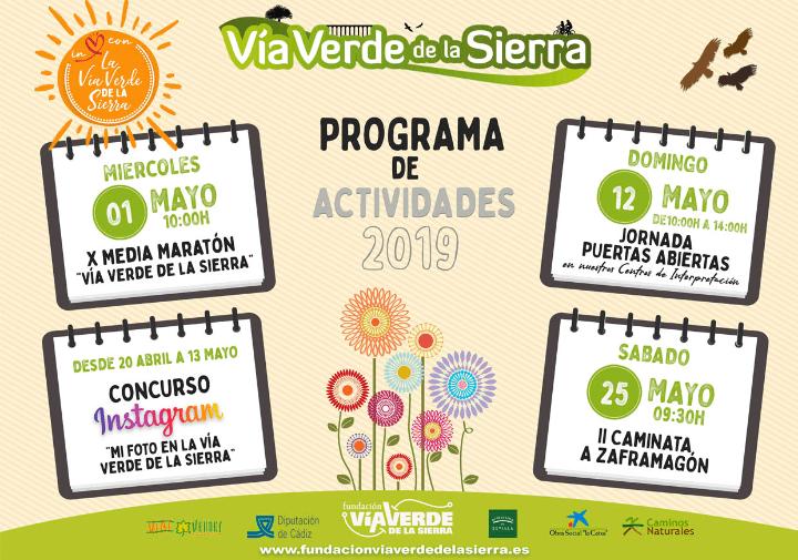 PROGRAMACIÓN DE ACTIVIDADES LÚDICO-FESTIVAS VÍAS VERDES DE LA SIERRA CÁDIZ-SEVILLA (Abril-Mayo 2019) Cádiz Con Niños Agenda Semanal Familia Cádiz adondevoyconmifamilia