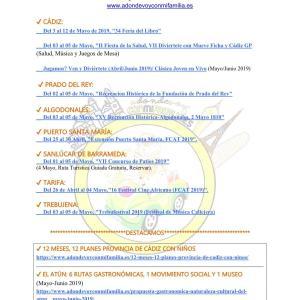 Agenda semanal familiar 03 al 09 mayo 2019