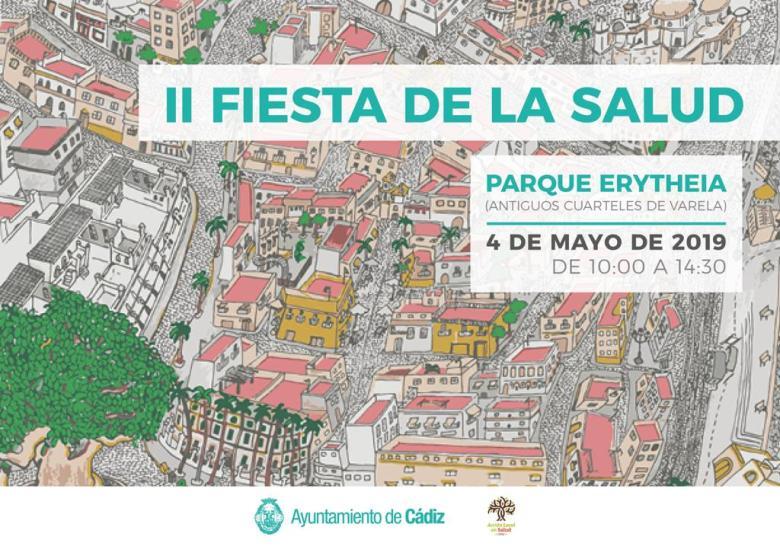 "II FIESTA DE LA SALUD, Sábado 04 de Mayo de 2019, ""Parques Erytheia"" (Antiguos Cuarteles de Varela), CÁDIZ, Agenda Semanal Familia Cádiz, adondevoyconmifamilia"