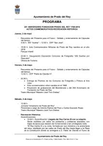 251 ANIVERSARIO DE LA FUNDACIÓN DE PRADO DEL REY 1768-2019 Del 02 al 05 de Mayo de 2019 Agenda Semanal Provincia de Cádiz adondevoyconmifamilia