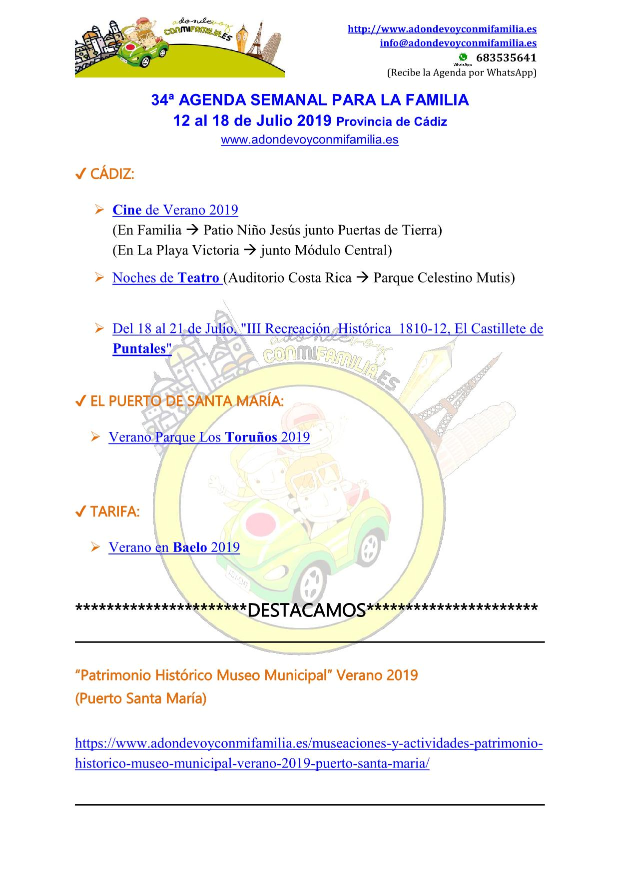 034 Agenda semanal familiar 12 al 18 Julio 2019