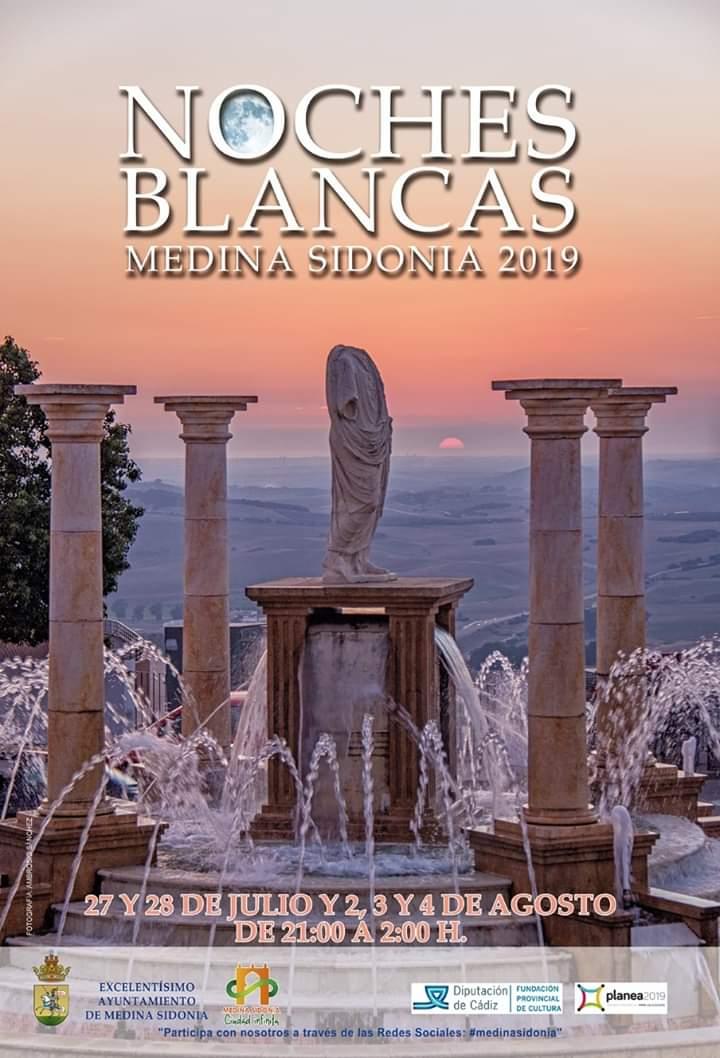 Noches Blancas 2019 (Medina Sidonia) Del 27 al 28 de Julio de 2019 y del 02 al 04 de Agosto de 2019 adondevoyconmifamiilia cadiz niños