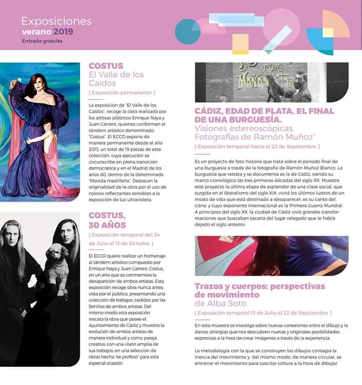 Exposiciones ECCO Verano 2019 (CÁDIZ)