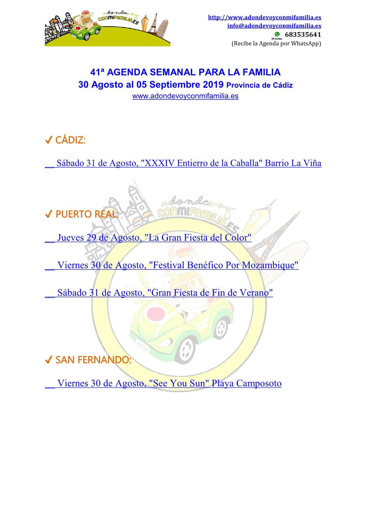 041 Agenda semanal familiar 30 agosto al 05 septiembre 2019