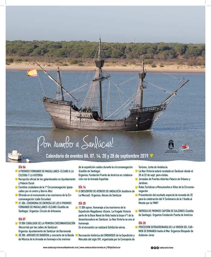 Conmemoración V Centenario de la 1º Circunvalación (Sanlúcar) Del 06 al 20 de Septiembre de 2019)