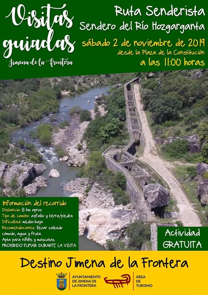 """Visita Guiada """"Ruta Senderista Río Hozgarganta"""" Sábado 02 de Noviembre de 2019 (Jimena de la Frontera)"""