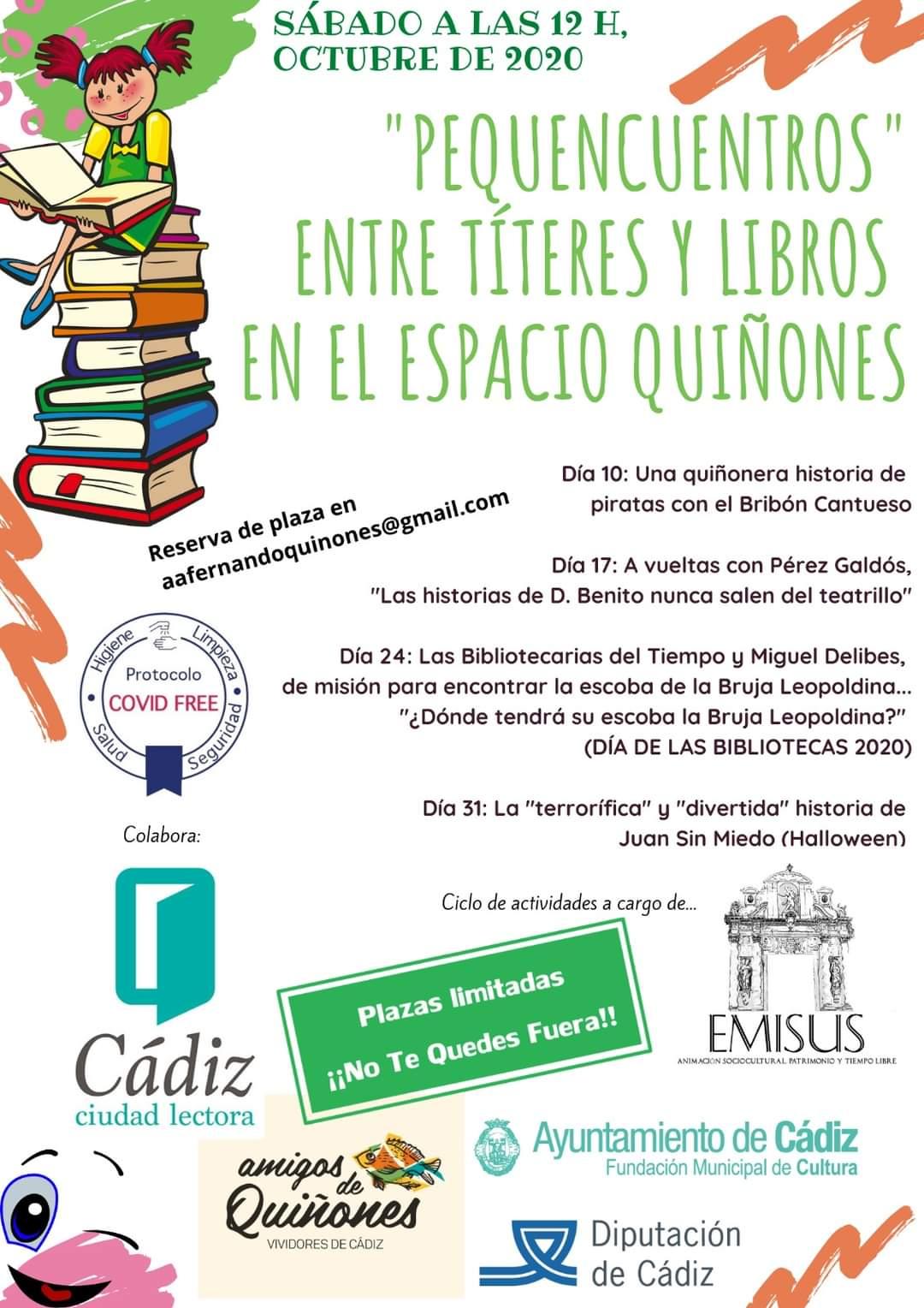 pequencuentros en el esapacio Quiñones Cádiz Octubre 2020
