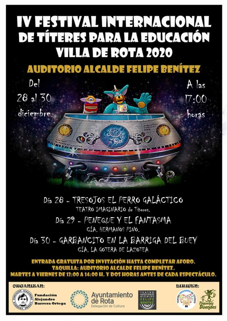 Festival Títeres Rota Diciembre 2020 Aondevoyconmifamilia