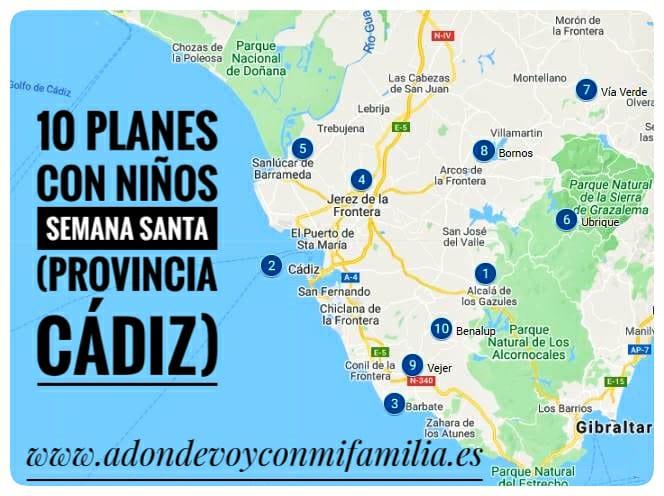 10 Planes con Niños en Semana Santa (Provincia de Cádiz) 2021 Adondevoyconmifamilia