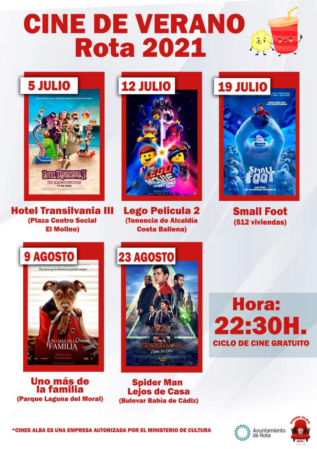 cine de verano 2021 rota