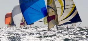 Depart de la 4eme etape de la Solitaire du Figaro Eric Bompard Cachemire 2014 entre Les Sables d'Olonne et Cherbourg - Les Sables d'Olonne le 29/06/2014