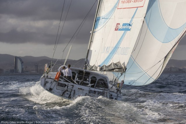 Barcelona World Race 2014-15, Marin Gerard, Corbella Anna, GAES Centros Auditivos, Imoca, sailing, yachting, round the world, double handed