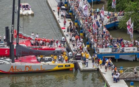 2014-15, Brazil, InPort race, Itajai, Team Vestas Wind InPort race, Volvo Ocean Race, aerial