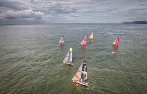 2014-15, Brazil, InPort race, Itajai, Team Vestas Wind InPort race, Volvo Ocean Race, aerial, fleet