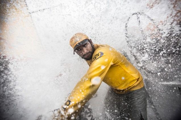 2014-15, Abu Dhabi Ocean Racing, Leg6, OBR, VOR, Volvo Ocean Race, onboard, Adil Khalid, splash