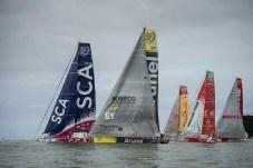 2014-15, VOR, Volvo Ocean Race, Itajai, Brazil, Start, RIB, fleet