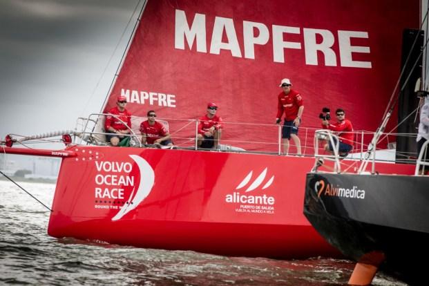 2014-15, VOR, Volvo Ocean Race, MAPFRE, Itajai, Andre Fonseca, Start