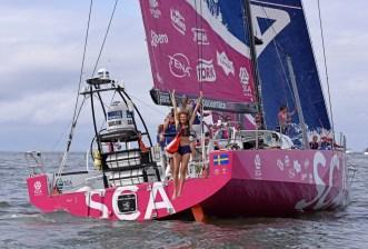 Itajai, Brazil, Volvo Ocean Race 2014-15, Leg 6, model, VVIP, Ellen Jabour, Team SCA