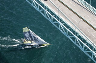 2014-15, VOR, Volvo Ocean Race, Race, Leg 7, Start, Newport, USA, Team Brunel, Aerial