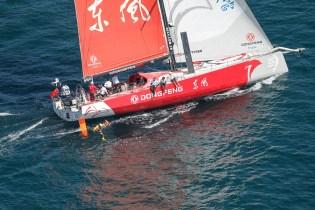 2014-15, VOR, Volvo Ocean Race, Race, Leg 7, Start, Newport, USA, Dongfeng Race Team, jumper, Aerial