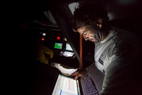 2014-15, Abu Dhabi Ocean Racing, Leg6, OBR, VOR, Volvo Ocean Race, onboard, Roberto Bermudez de Castro, Chuny, down below, email, device, laptop